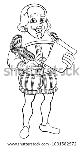 Shakespeare Cartoon Stock Images, Royalty-Free Images