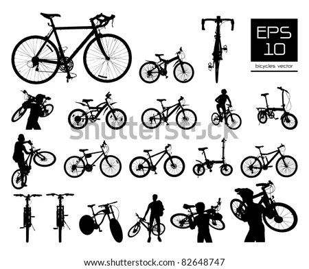 Bicycle Silhouette Stock Images, Royalty-Free Images