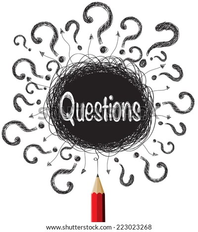 Question Marks Designs Illustration Vector Stock Vector