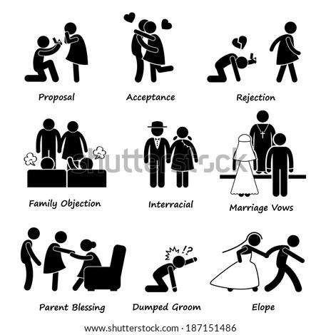 Love Couple Marriage Problem difficulty Stick Figure
