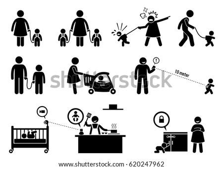 Occupational Safety Health Worker Accident Hazard Stock