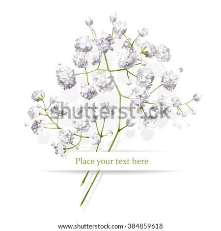 Vintage Little White Flowers Bouquet Valentines Stock