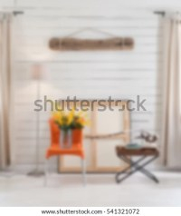 Blurred Living Room Decoration Interior Background Stock ...
