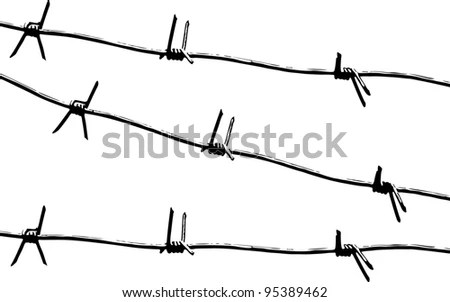 Barbed Wire Vector Stock Photos, Royalty-Free Images