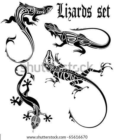 Gecko Tattoo Stock Images, Royalty-Free Images & Vectors