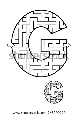 Two Visual Puzzles Coloring Page Kids Stock Vector