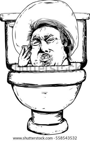 Cartoon-clip-toilet Stock Photos, Royalty-Free Images