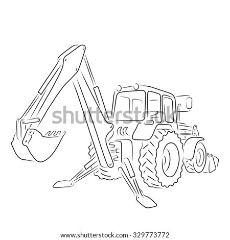 Backhoe Stock Images, Royalty-Free Images & Vectors