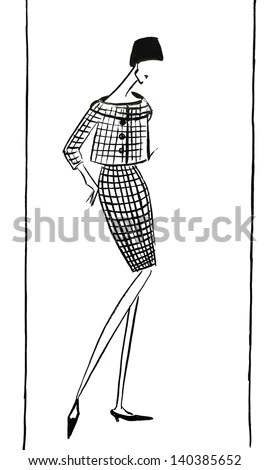 Man 1840 Vintage Engraved Illustration Les Stock Vector
