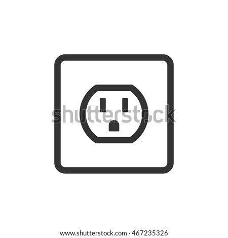 Electric Plug Socket Base Icon Australian Stock Vector