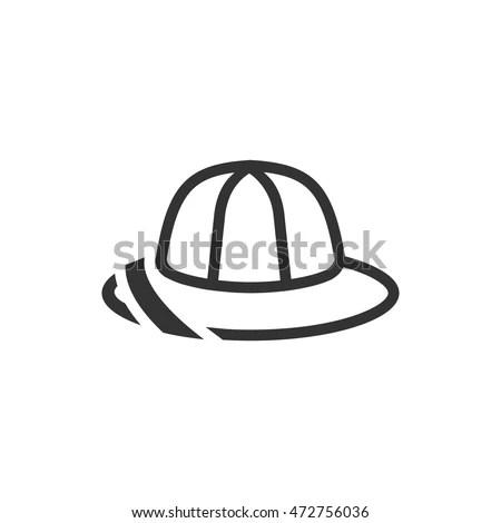 Firefighter Helmet Flat Icon Stock Vector 407147689