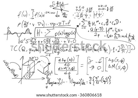 complex math formulas on whiteboard mathematics and