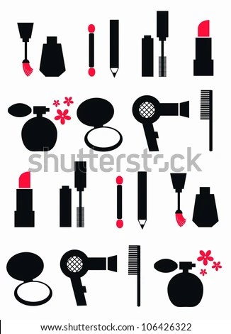 Cosmetics Silhouette Stock Images, Royalty-Free Images