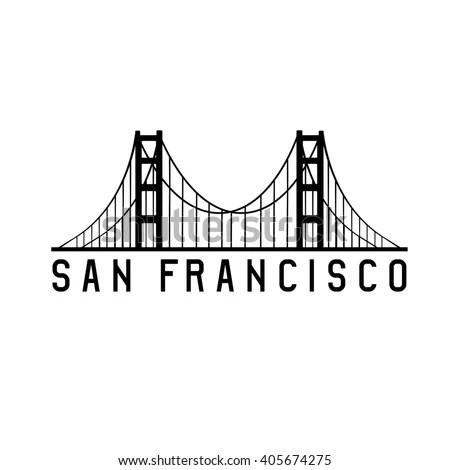 Golden Gate Bridge San Francisco Vector Stock Vector