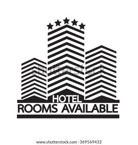 Hotel Rooms Available Icon Illustration Design Stock