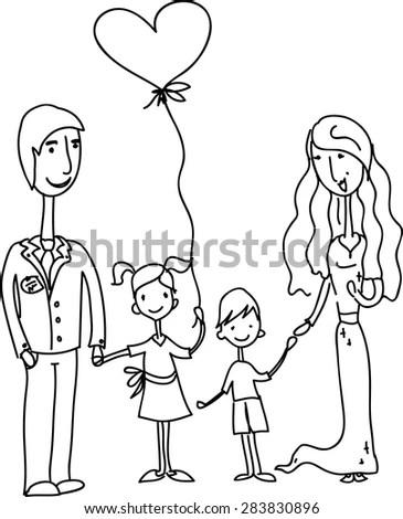 Kids Holding Hands Blank Speech Bubble Stock Vector