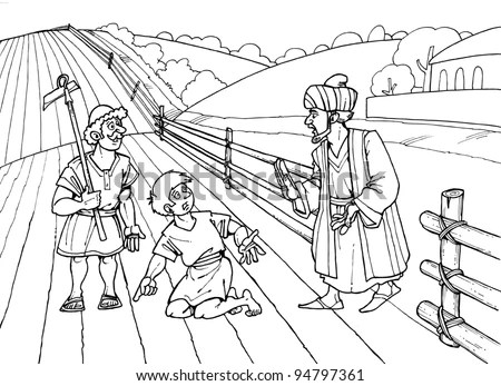 Parable Jesus Christ About Weeds Wheat Stock Illustration