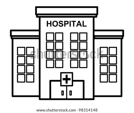 Hospital Icon Illustration Stock Illustration 98314148