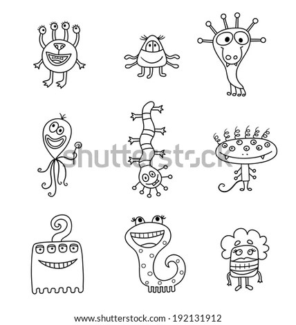 Hand Drawing Vector Picture Mystic Horror Stock Vector