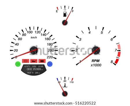 Odometer Stock Photos, Royalty-Free Images & Vectors