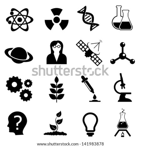 Science Related Biology Physics Chemistry Icon Stock