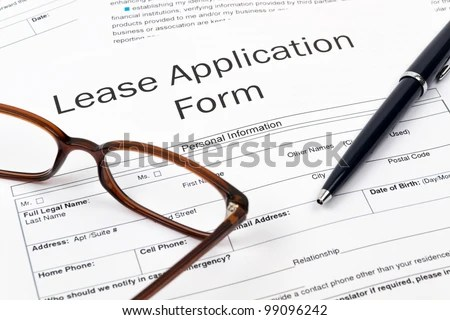 Pen Glasses Lease Application Form On Stock Photo (Edit Now ...