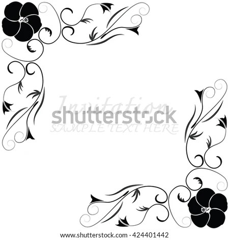 Horse Head Ornament Decoration Animal Sketch Stock Vector
