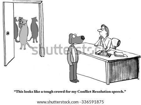 Business Cartoon Business Cats Background Business Stock