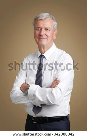 Portrait Senior Marketing Manager Arms Crossed Stock Photo 342080063  Shutterstock