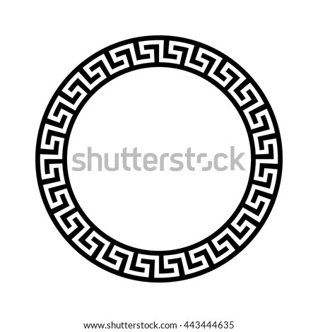 Decorative Round Frame Abstract Vector Geometric Stock