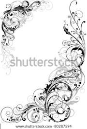 swirl floral design stock vector