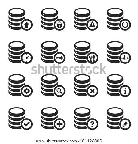 Database Management Icon Set Stock Vector (Royalty Free