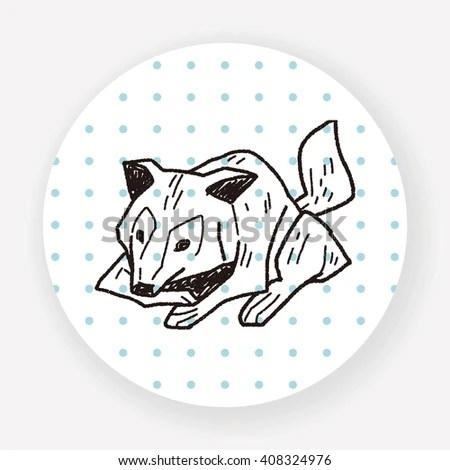 Illustration Cute Fur Seals Watercolor Style Stock