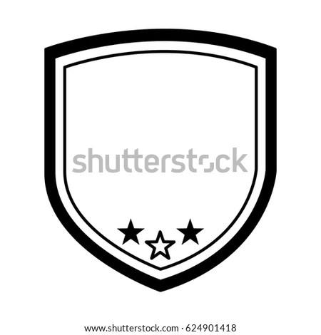 Elegant Shield Frame Icon Stock Vector 624901418