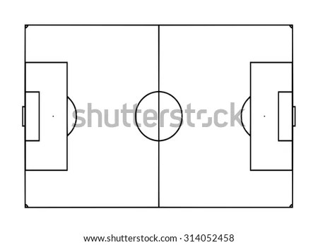 Football Pitch Template Stock Illustration 314052458