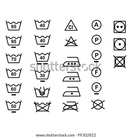 Candy Tumble Dryer Symbols