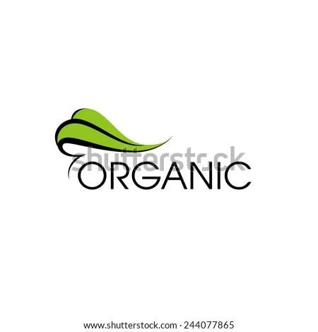 Organic Product Logo Design Vector Template Stock Vector