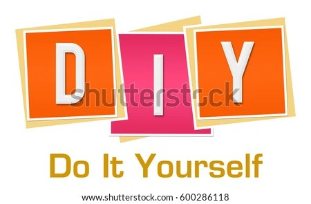Diy Do Yourself Pink Orange Blocks Stock Illustration 600286118  Shutterstock