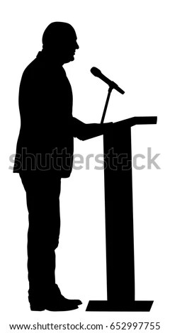 Public Speaker Standing On Podium Vector Stock Vector