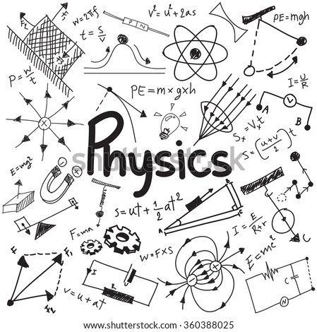 Physics Science Theory Law Mathematical Formula Vector de