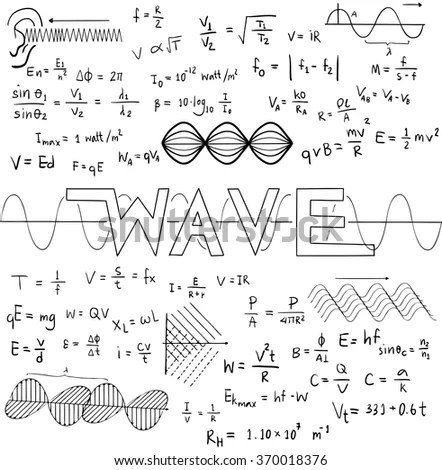 Wave Physics Science Theory Law Mathematical Stock Vector