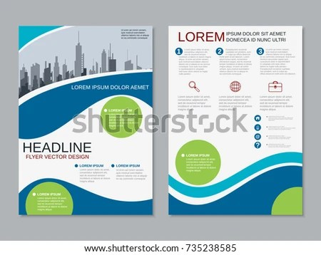 Modern Business Twosided Flyer Booklet Brochure Stock Vector
