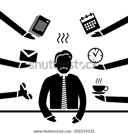 vector abstract flat design stressed and depressed