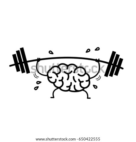 Brain Workout Vector Concept Illustration Hard Stock