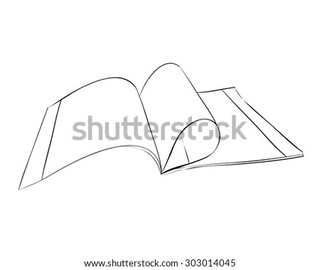 Vector Sketch Exercise Book Hand Draw Stock Vector
