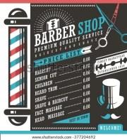 barber vector list template