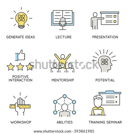 Vector Set Icons Related Business Corporate Stock Vector