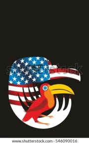 eagle head american flag stock