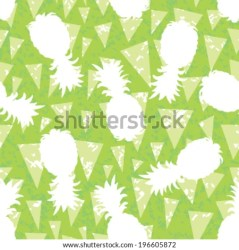 pattern banderitas seamless background pineapple silhouette shutterstock