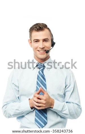 Happy Young Male Customer Support Executive Stock Photo 207552148  Shutterstock